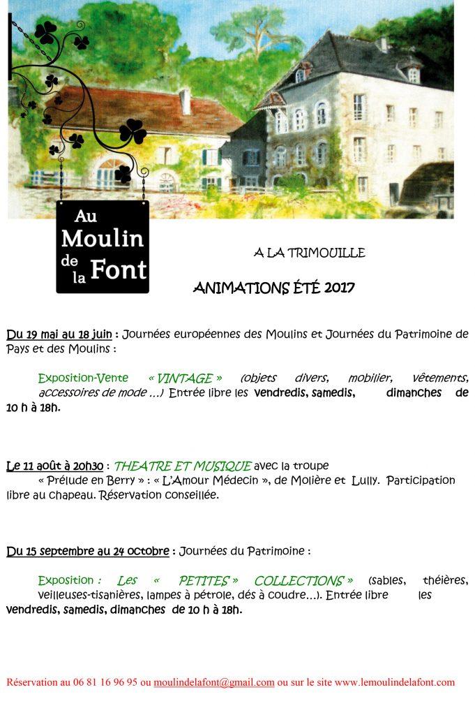 Programme d'été 2017